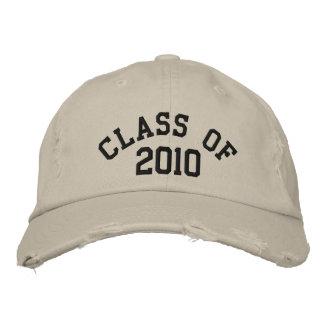 Clase de gorra bordado 2010 gorras de béisbol bordadas