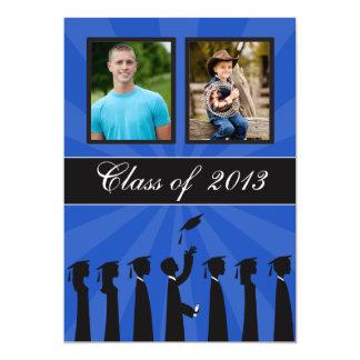 Clase de graduación de la silueta de 2013 azules invitación 12,7 x 17,8 cm