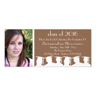 Clase de invitación de la graduación (silueta de