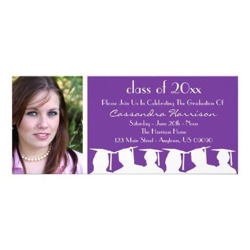 Clase de invitación de la graduación (silueta púrp