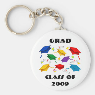 Clase de la celebración 2009 de la graduación llavero redondo tipo chapa