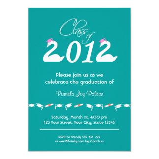 Clase de la celebración 2012 de la graduación invitación 12,7 x 17,8 cm