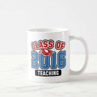 Clase de la enseñanza 2016 taza de café