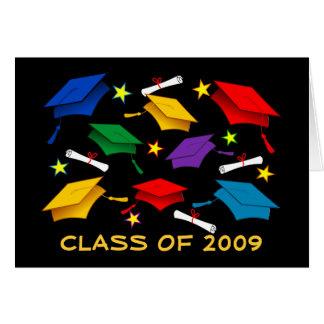 Clase de la graduación 2009 - tarjeta de felicitac