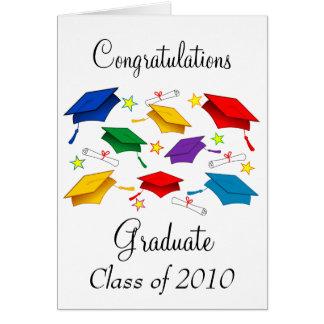 Clase de la graduación 2010 tarjeta de felicitación
