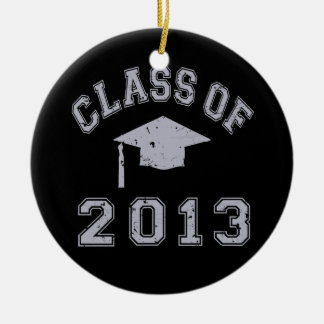 Clase de la graduación 2013 adorno redondo de cerámica