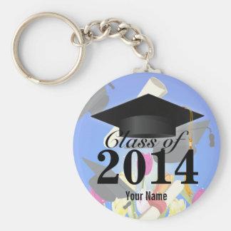 Clase de la graduación 2014 llavero redondo tipo chapa