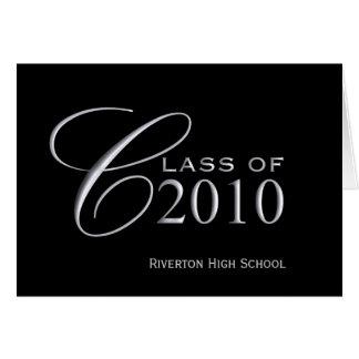 Clase de la graduación de 2010 - la escuela tarjeta de felicitación