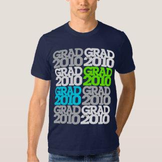 Clase de la graduación de camiseta verde del