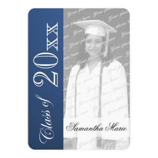 Clase de la graduación de foto azul de la invitación 11,4 x 15,8 cm