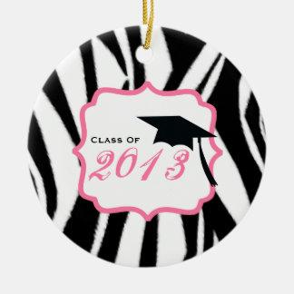 Clase de la graduación del estampado de zebra 2013 ornamente de reyes