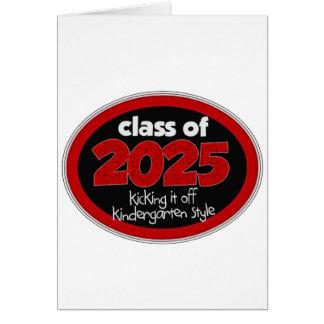 Clase de la guardería de grado de 2025 niños de la tarjetón