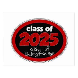 Clase de la guardería de grado de 2025 niños de la postal