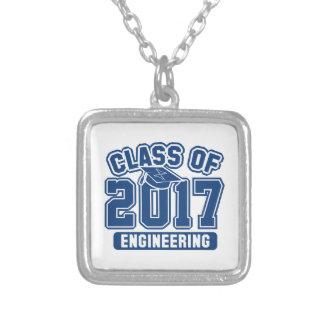 Clase de la ingeniería 2017 collar plateado