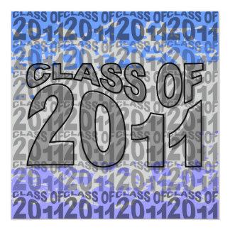 Clase de la invitación 2011 de la graduación invitación 13,3 cm x 13,3cm