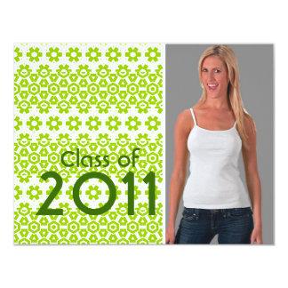 Clase de la invitación 2011 de la graduación invitación 10,8 x 13,9 cm