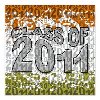 Clase de la invitación 2011 de la graduación