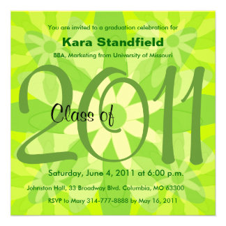 Clase de la invitación 2011 de la graduación FG134
