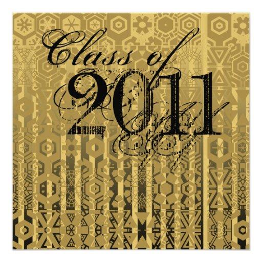 Clase de la invitación 2011 de la graduación TXG24
