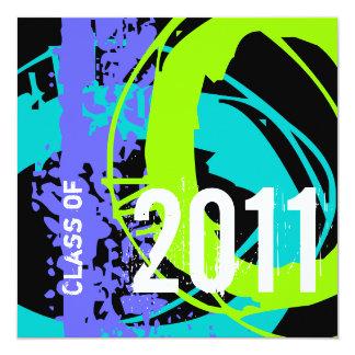 Clase de la invitación 2011 de la graduación WD283 Invitación 13,3 Cm X 13,3cm