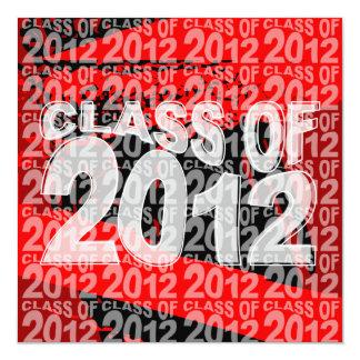 Clase de la invitación 2012 de la graduación