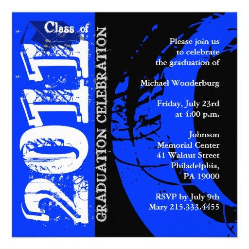 Clase de la pintura 2011 del azul de la invitación