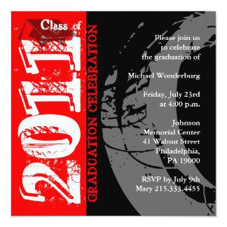 Clase de la pintura 2011 del rojo de la invitación invitación 13,3 cm x 13,3cm
