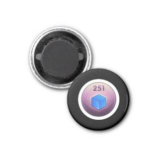 Clase de menor importancia del azul del refinador imán redondo 3 cm