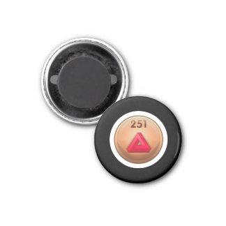 Clase de menor importancia del rojo del refinador imán redondo 3 cm