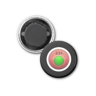 Clase de menor importancia del verde del refinador imán redondo 3 cm