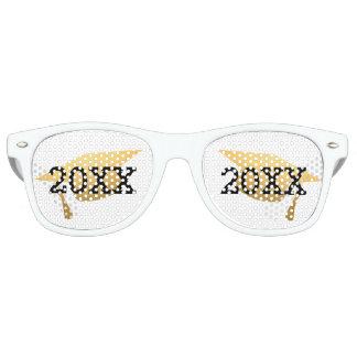 Clase de moda de la fiesta de graduación del oro gafas de fiesta retro