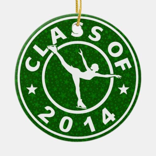 Clase de patinador de hielo 2014 ornamento para arbol de navidad