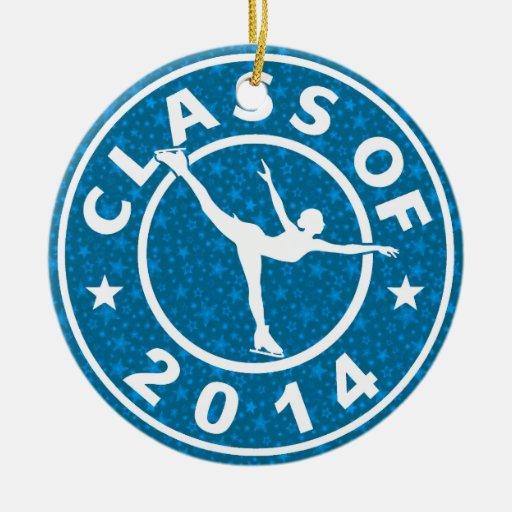 Clase de patinador de hielo 2014 ornamento para reyes magos