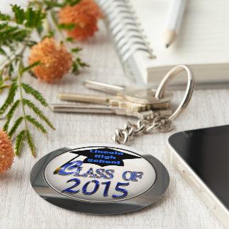 Clase de plata y azul del llavero 2015 de la