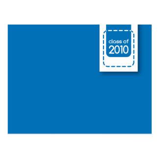 clase de postal de la graduación de 2010 azules
