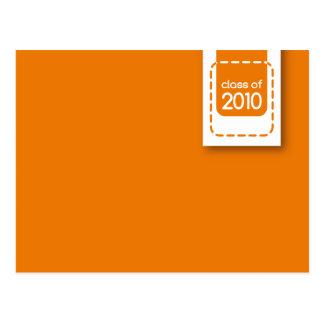 clase de postal de la graduación de 2010 naranjas