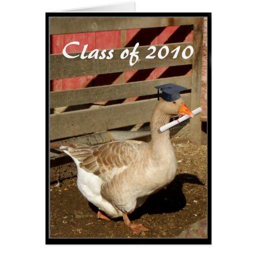 Clase de tarjeta de felicitación de la graduación