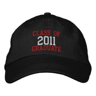 Clase de texto roja y blanca del gorra graduado 20 gorra de beisbol bordada
