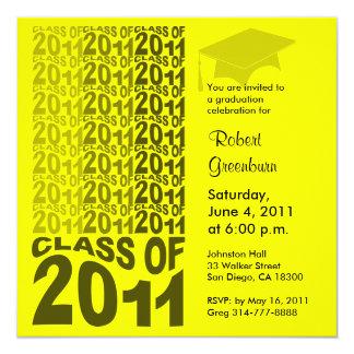 Clase del amarillo 2011 de la invitación TXT263 de
