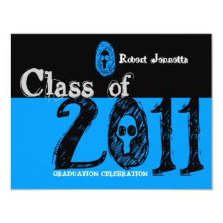 Clase del azul 2011 del cráneo de la invitación