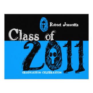 Clase del azul 2011 del cráneo de la invitación SK