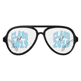 Clase del azul 2019 gafas de fiesta de aviador