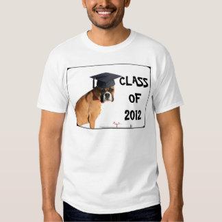 Clase del boxeador de la camiseta graduada 2012