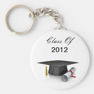 Clase del casquillo y del diploma del llavero 2012