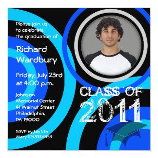 Clase del círculo 2011 del azul de la invitación