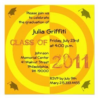Clase del círculo 2011 del naranja de la invitació anuncios