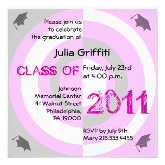 Clase del círculo rosado 2011 de la invitación CP2