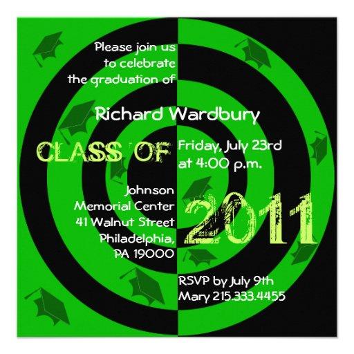 Clase del círculo verde 2011 de la invitación CG22