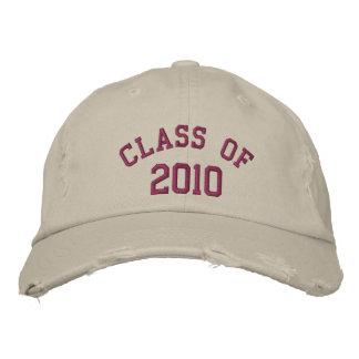 Clase del ciruelo de gorra bordado 2010 gorros bordados