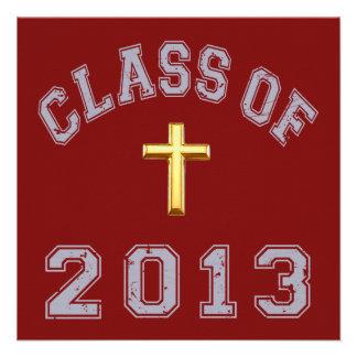 Clase del cristiano 2013 cruzado - gris 2 invitación